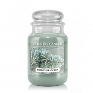 Country Candle - Frosty Branches  - Duży słoik (652g) 2 knoty