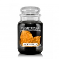 Country Candle - Golden Tobacco - Duży słoik (652g) 2 knoty