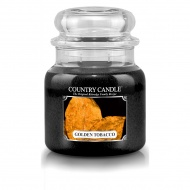 Country Candle - Golden Tobacco - Średni słoik (453g) 2 knoty