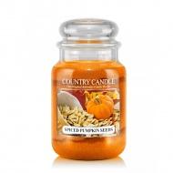Country Candle - Spiced Pumpkin Seeds - Duży słoik (652g) 2 knoty