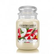 Country Candle - Sugar Cookies - Duży słoik (652g) 2 knoty