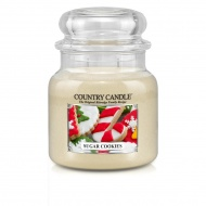 Country Candle - Sugar Cookies - Średni słoik (453g) 2 knoty