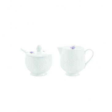 Cukiernica z łyżeczką + mlecznik do kawy Nuova R2S La Belle Maison