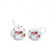 Cukiernica z łyżeczką + mlecznik do kawy Nuova R2S Romantic ciasta