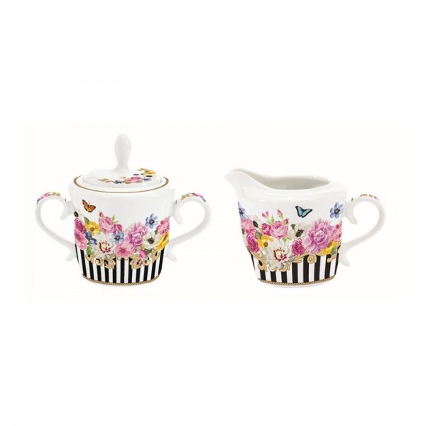 Cukierniczka i mlecznik Nuova R2S Flowers Glamour 1201 GLUR