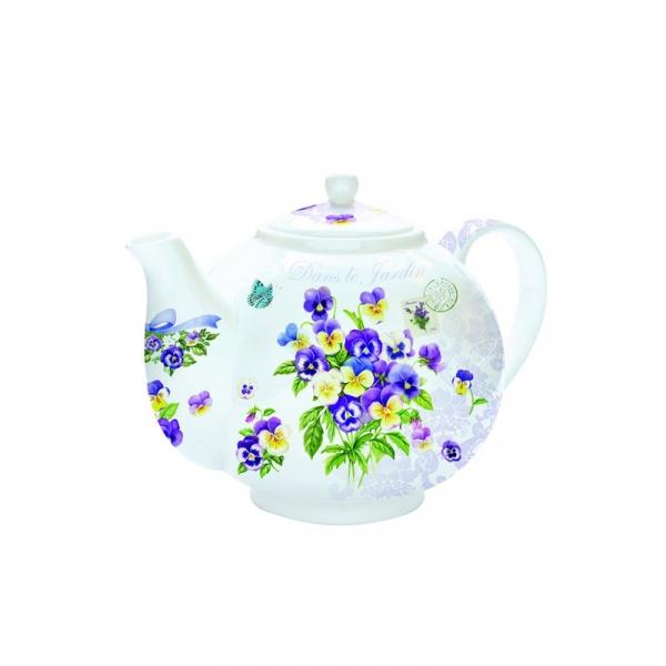 Czajnik do herbaty z zaparzaczem 1 l Nuova R2S Romantic bratki 321 RMVL