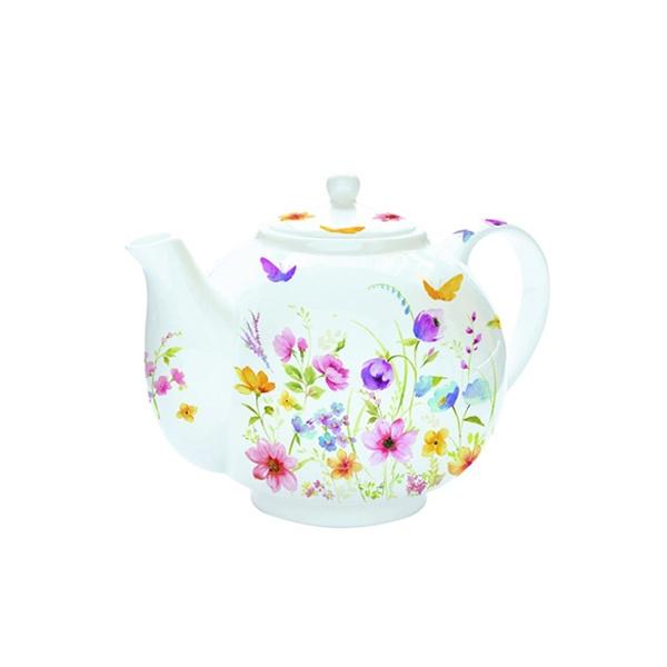 Czajnik do herbaty z zaparzaczem 1 l Nuova R2S Romantic kwiaty polne 321 FLDC