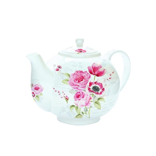 Czajnik do herbaty z zaparzaczem 1 l Nuova R2S Romantic róże 321 FLWD