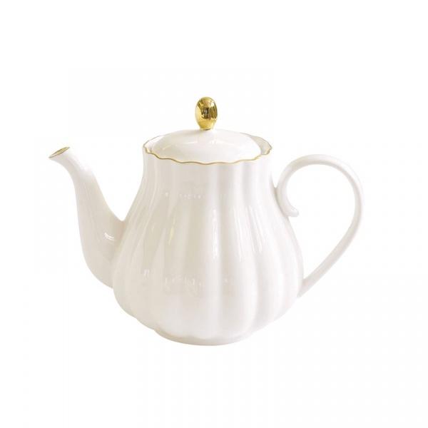 Czajnik porcelanowy 0,8L Nuova R2S Royale biały 1283 WITE