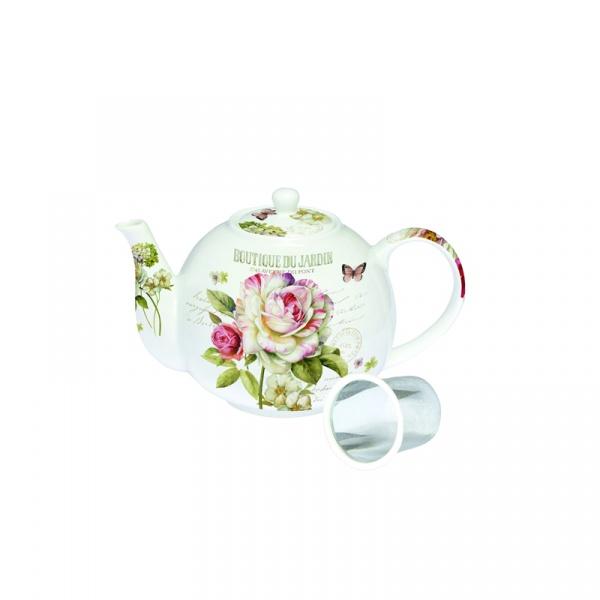 Czajnik z zaparzaczem Nuova R2S Nostalgie piwonie herbaciane 197 FLEU