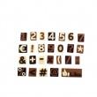 Czekoladowe pralinki Pavoni 26 porcji (cyferki) CHOCO18