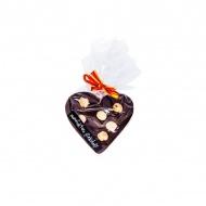 Czekoladowe serce z orzechami 75g Manufaktura Czekolady