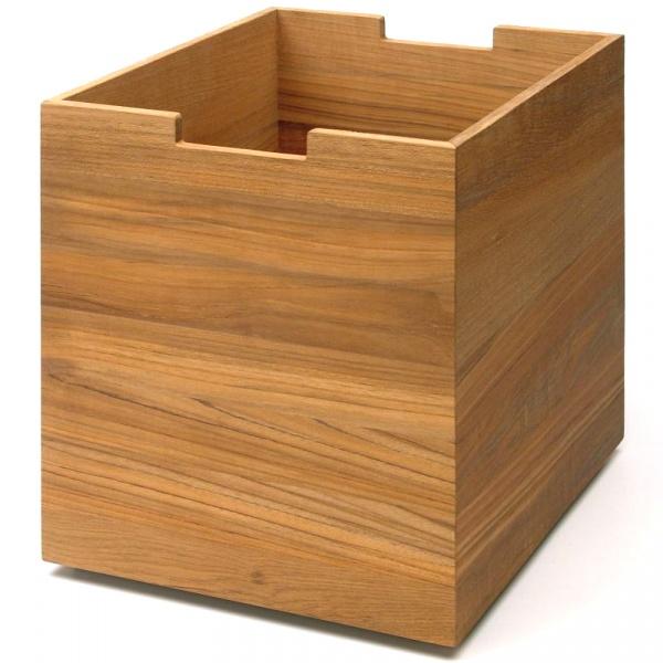 Dębowe pudełko na kółkach Skagerak Cutter S1920425
