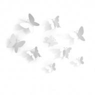Dekoracja ścienna 9 szt. Umbra Mariposa biała