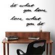 Dekoracja ścienna do WHAT YOU LOVE LOVE WHAT YOU 470170-040