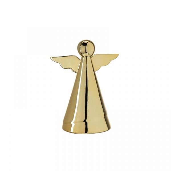 Dekoracyjny aniołek 16 cm Leonardo Glaciale złoty 062876