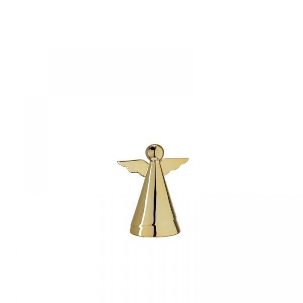 Dekoracyjny aniołek 9 cm Leonardo Glaciale złoty 062874