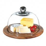 Deska do sera ze szklaną pokrywą 25 cm Zassenhaus akacja