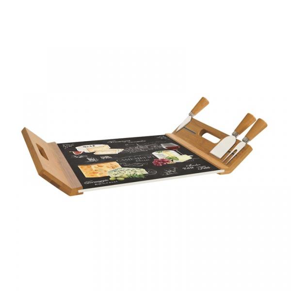 Deska do serów z nożami 4szt Nuova R2S Woch-Wopa-Ictt 890 WOCH