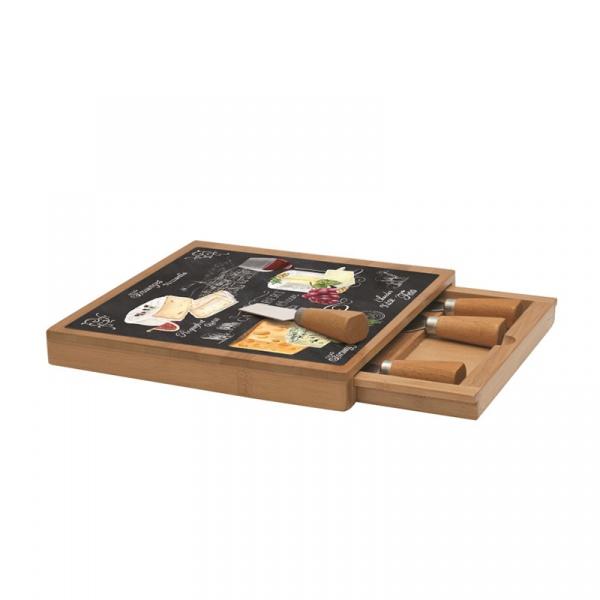 Deska do serów z nożami 4szt Nuova R2S Woch-Wopa-Ictt 891 WOCH