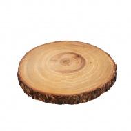 deska do serwowania, plaster drewna akacji, śred. 23 x 2 cm