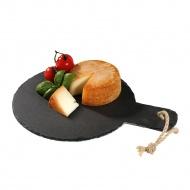 Deska do serwowania sera z rączką 22 cm Cilio czarna