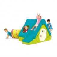 Domek dla dzieci 104x240x160cm Bazkar FUNTIVITY niebieski