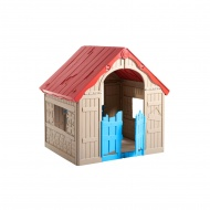 Domek dla dzieci 110,6x101,8x89,7cm Bazkar FOLDABLE SKŁADANY jasny