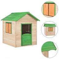 Domek do zabawy dla dzieci, drewniany, zielony