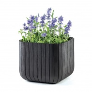 Donica 29,7cm Keter Wood Planter S antracytowa