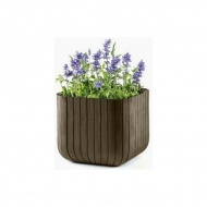 Donica 29,7cm Keter Wood Planter S brązowa