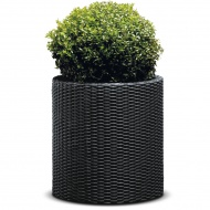 Donica cylindryczna 43cm Keter antracyt