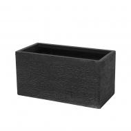 Doniczka czarna prostokątna 60 x 29 x 30 cm Davanzale BLmeble