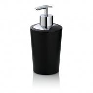 dozownik do mydła, 0,35 l, śred. 8 x 17 cm, czarny