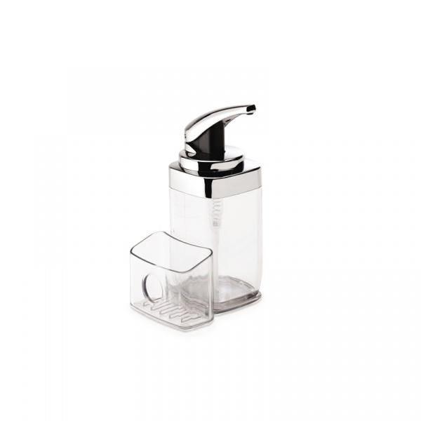 Dozownik do mydła z pojemnikiem na gąbkę Simple Human KT1159