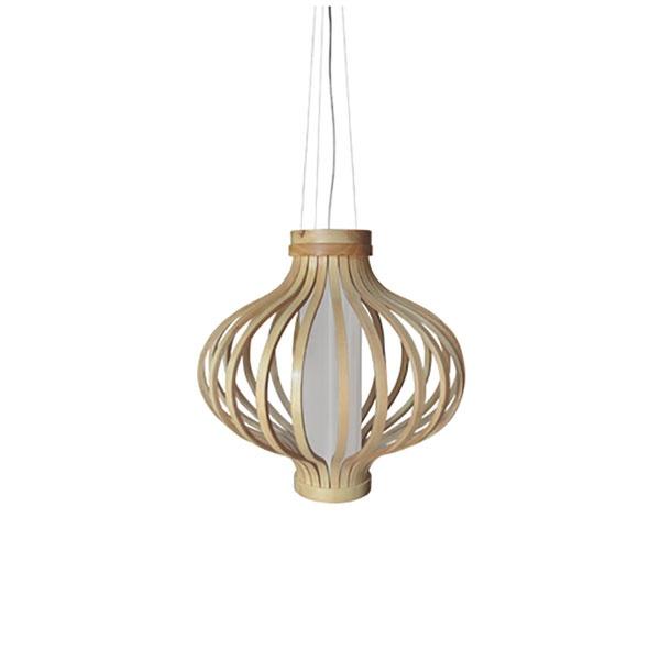 Drewniana lampa wisząca Barel 38cm King Home MD80160-1-380