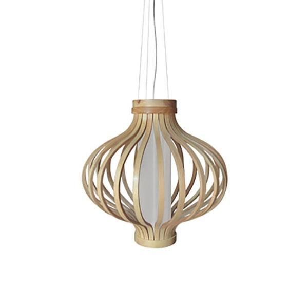 Drewniana lampa wisząca Barel 50cm King Home MD80160-1-500