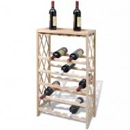 Drewniany stojak na 25 butelek wina