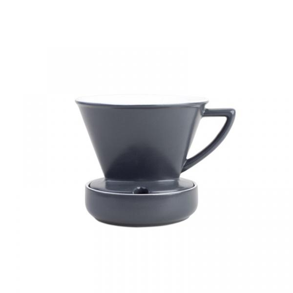 Dripper porcelanowy 9,5x13 cm Barista & Co szary BC010-007