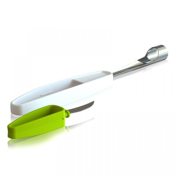 Drylownica z nożykiem do jabłek Tomorrows Kitchen Plus Tools zielona TK-4663660
