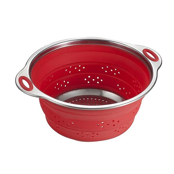 Durszlak składany 24cm Draining Brandani czerwony 56836