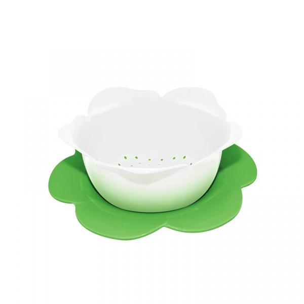 Durszlak z podstawką 16,5 cm Zak! Designs biało-zielony 1283-A850