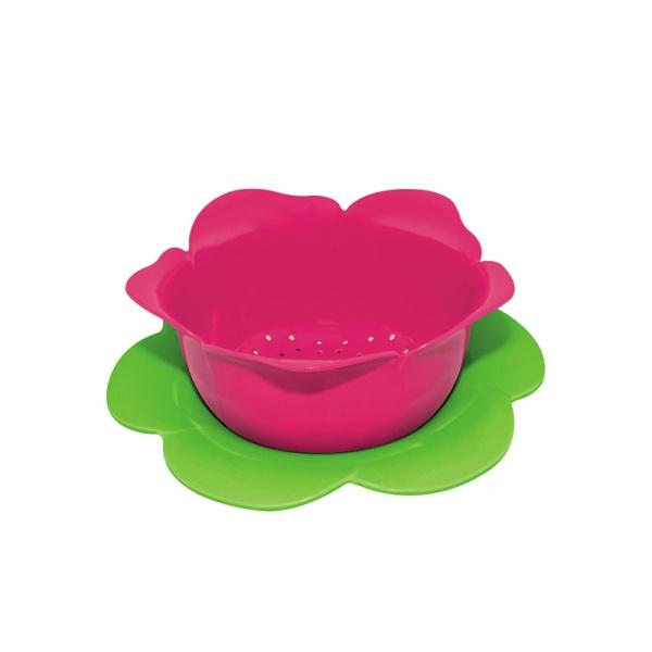 Durszlak z podstawką 16,5 cm Zak! Designs różowo-zielony 1701-A850