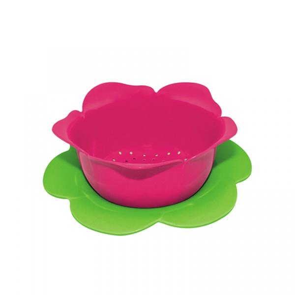 Durszlak z podstawką 23 cm Zak! Designs różowo-zielony 1701-A851