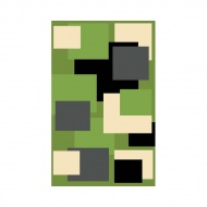 Dywan FIRE 280x370 411 GREEN BLACK 6312