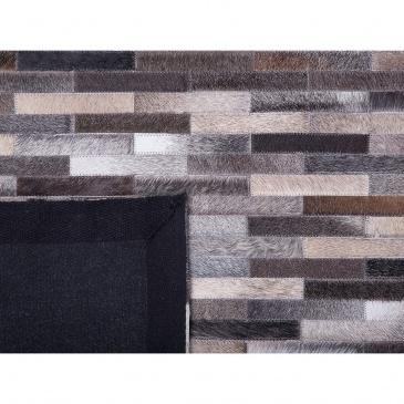Dywan skórzany szary/brązowy 160 x 230 cm AHILLI