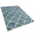 Dywan wełniany 160 x 230 cm niebieskie BELENLI