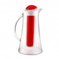 Dzbanek z wkładem na lód 2,1 L Livio Vialli Design czerwony