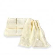 Ekskluzywny ręcznik bawełniany - koronka z taśmą