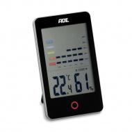 elektroniczny higrometr/termometr wewnętrzny, 8 x 13,5 x 2 cm, czarny